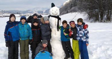 Outdoor Sport im Schnee