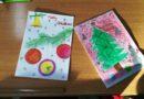 Weihnachtskarten aus verschiedenen Ländern Europas sind da