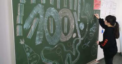 100. Mathematikschulübung